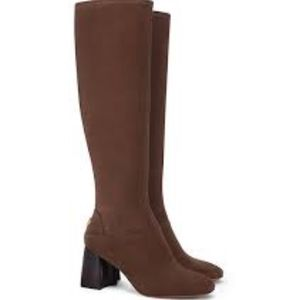 Tory Burch Sidney Sage Brown Boots/Booties
